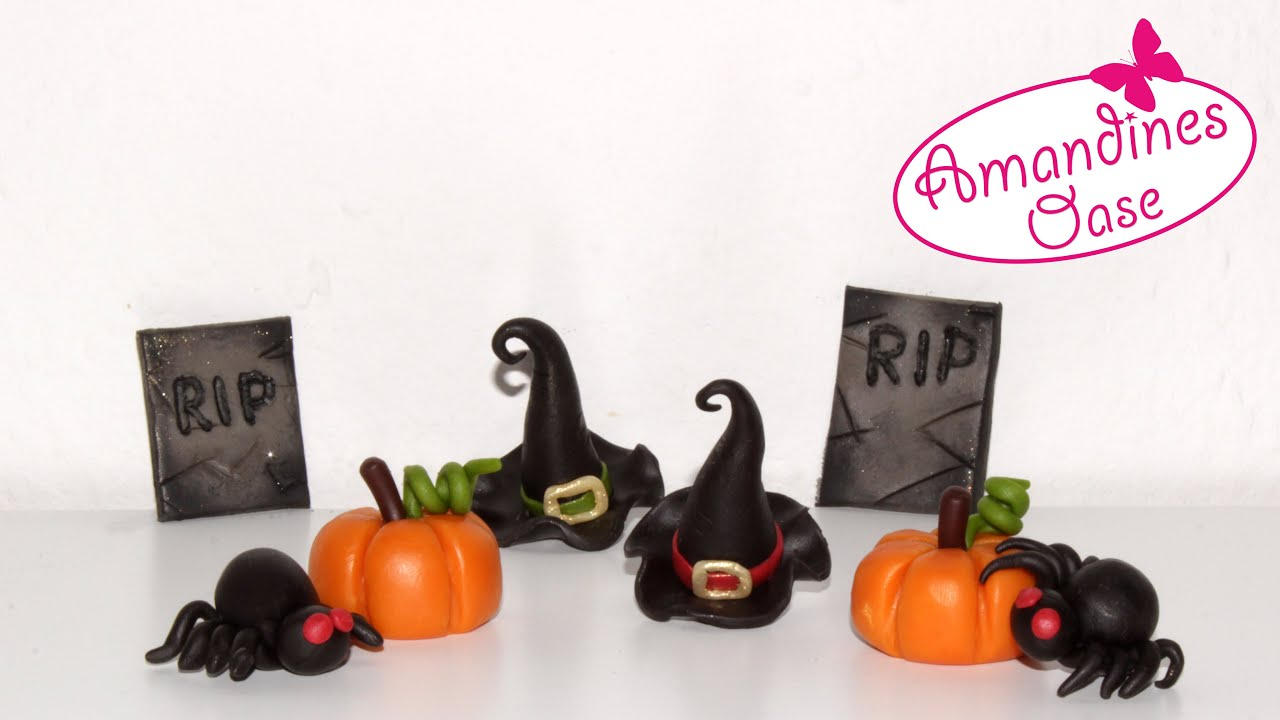 halloween deko modellieren k rbis hexenhut spinne. Black Bedroom Furniture Sets. Home Design Ideas