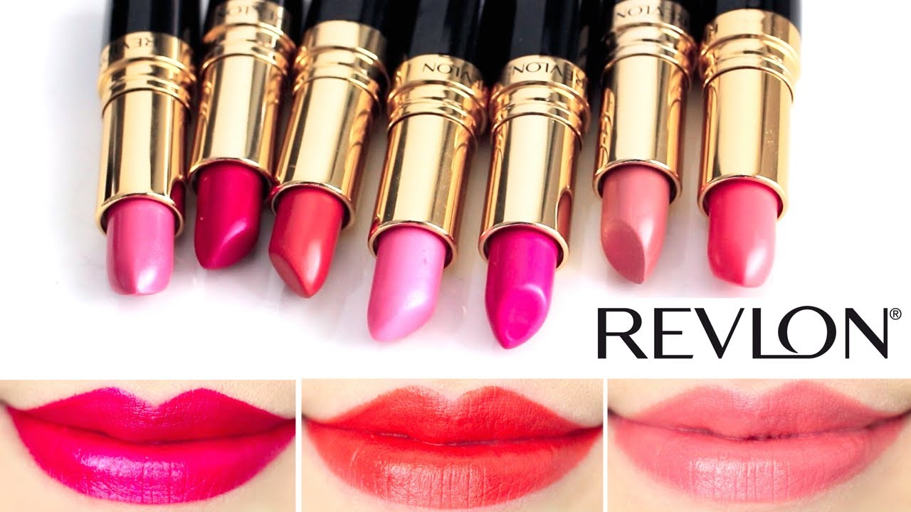 Revlon Super Lustrous Lipstick Lip Swatches #2 - YouTube