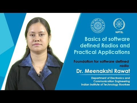 Lecture 01 Foundation for software defined radio