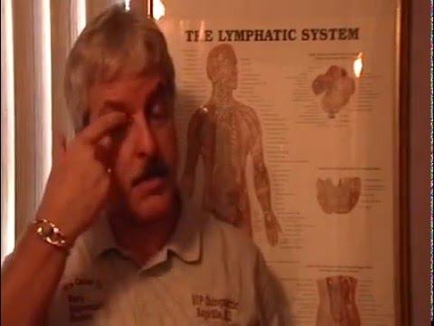 Dr. Mark Lynch demonstrating sinusthroat lymphatic drainage massage