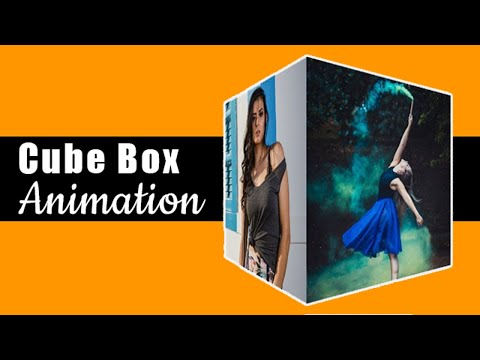 CSS3 3D Cube Animation with image | How to make 3d cube animation
