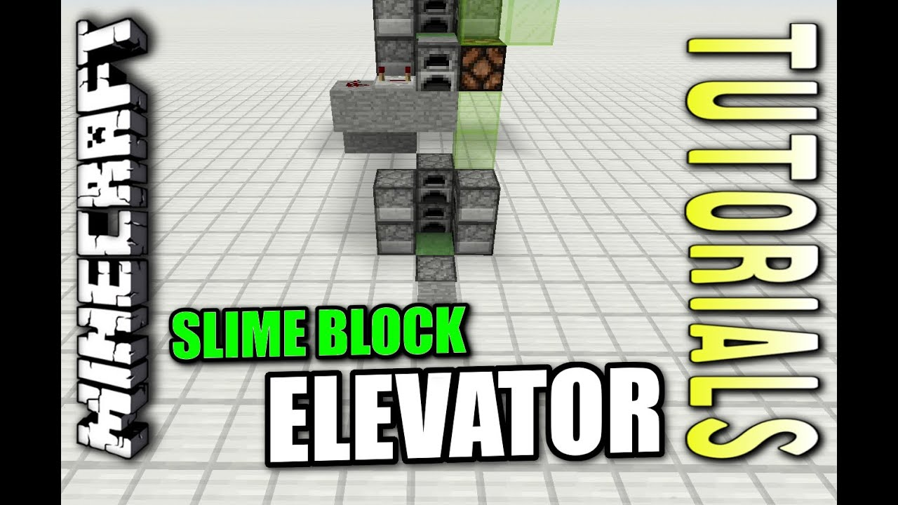 Minecraft Bedrock Slimeblock Elevator Easy
