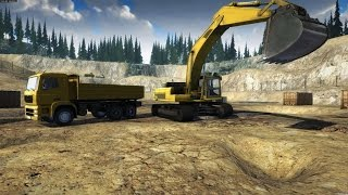 Construction Machines Simulator 2016#3 Zabawy z piaskiem i demolka