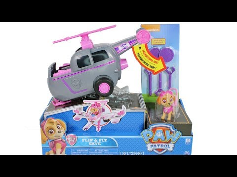 Paw Patrol Flip and Fly Skye Playset Unboxing Toy Review