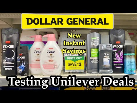 Dollar General | New Unilever Deals & Coupons | Cheap Dove & Axe | Testing New Instant Savings 🔥