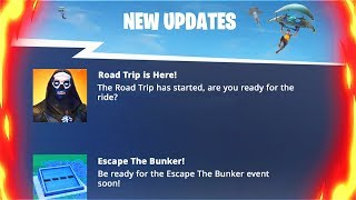Nouveau ROAD TRIP Skin ' Gifting ' Secret Bunker Event! Mise à jour Fortnite ÉNORME! (Fortnite Battle Royale)