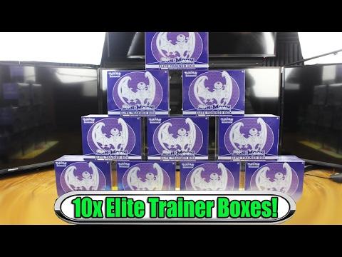 $400 worth of Sun & Moon Elite Trainer Boxes! (10x lunala) Pokemon Opening