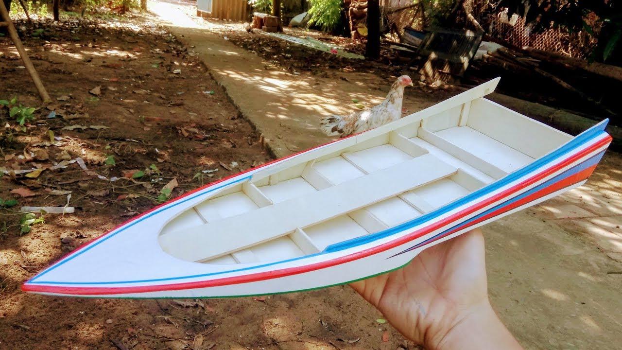 Mô hình tàu Thái, hướng dẫn làm tàu đua kiểu Thailand | Boat THAI RC