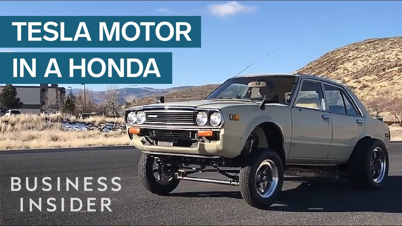 What Happens When You Put A Tesla Motor In An Old Honda
