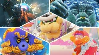 Super Mario Odyssey - All Bosses   No Damage! (Main Story)