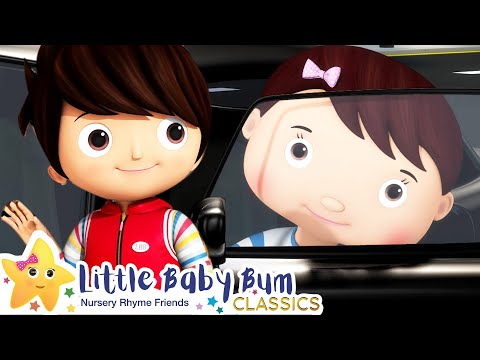Driving In My Car Song | Nursery Rhyme & Kids Song - ABCs and 123s | Little Baby Bum