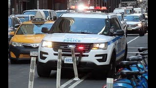 [Hit Those Poles Officer!] NYPD Midtown North - Ford Interceptor responding urgently in Manhattan