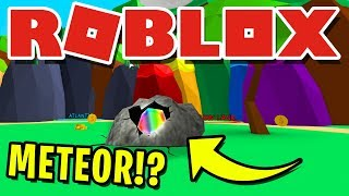METEOR CRASHES INTO EARTH WITH NEW *SECRET* PET INSIDE IN ROBLOX BUBBLEGUM SIMULATOR!! [UPDATE 28]