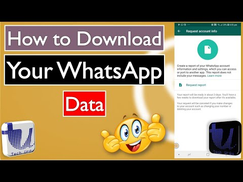 WhatsApp Now Lets You Download Your Data Report [Urdu/Hindi/English Subtitles]