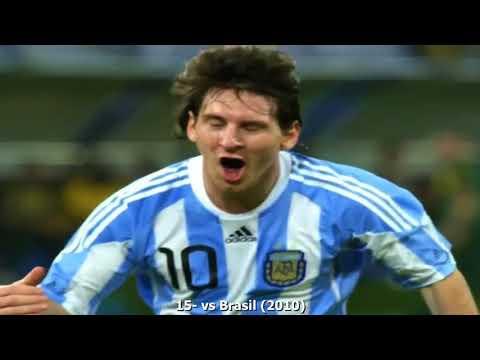 Los 61 goles de MESSI en la Argentina....