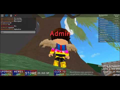 Code For Shouting Simulator In Roblox Trolling People With Admin Shouting Simulator Roblox Admin Code Wegnywegny Youtube