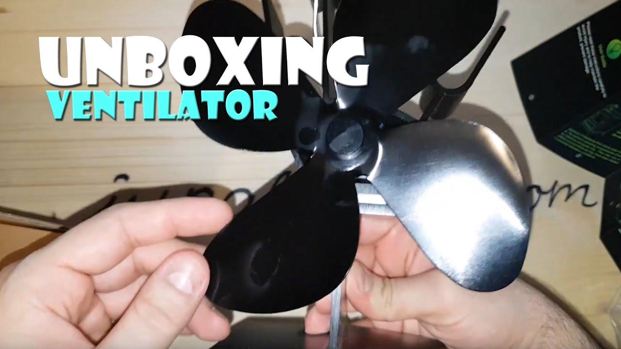 Unboxing Kamin Ventilator Lüfter Ohne Strom Funktioniert Mit Wärme