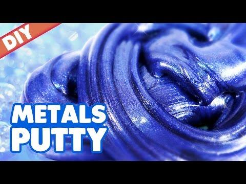 DIY Precious Metal Slime Putty | MonsterKids