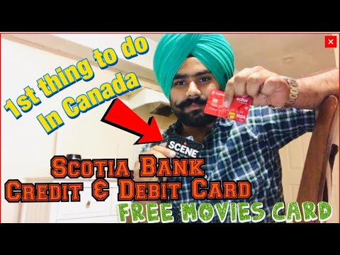 Bank Credit, Debit & Scene Card   Free movies & discounts from Scotia Bank   1st thing to do in 🇨🇦