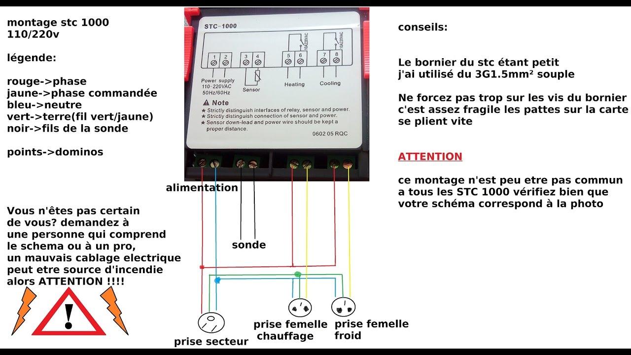 medium resolution of  tuto stc1000 cablage et r glage regulateur de temperature