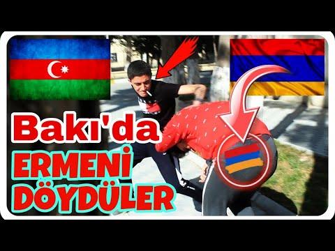 Erməni, Bakı'da İnsanlardan Yardım İstədi Və Döyüldü !!! Baku Prank