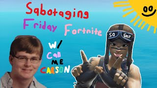 How WE CHEATED in FRIDAY FORTNITE w/CallMeCarson