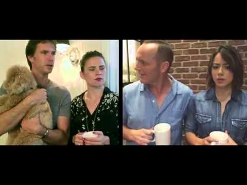 TEAM AGENT CARTER HAYLEY ATWELL JARVIS JAMES D'ARCY DUBSMASH WARS For Charity AGENTS OF S.H.I.E.L.D