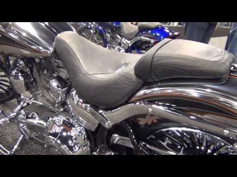 2014 H-D Breakout CVO Molten Silver and Black Diamond with Forged Iron Graphics