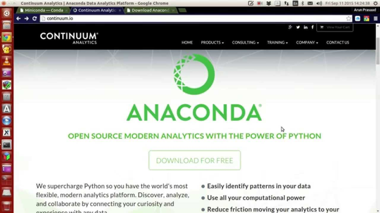 Installing and setting up Python and packages using Anaconda/Miniconda