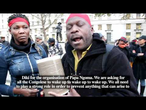 UK Congolese youth PROTEST pt 2