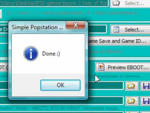 Eboot to PSX format by Obsessiveproductions