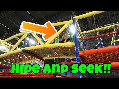 Hide And Seek At A Huge Indoor Playground For Kids! We Met a Fan!!