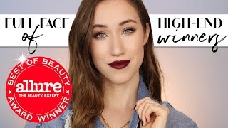 FULL FACE OF HIGH END Allure Best of Beauty Award WINNERS 2017 | ALLIE GLINES