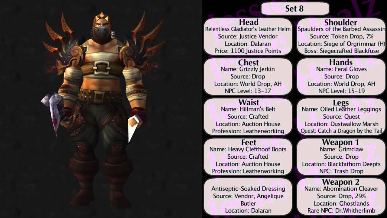 Jessiehealz - 10 Badass Rogue Transmog Sets #3 (World of Warcraft)