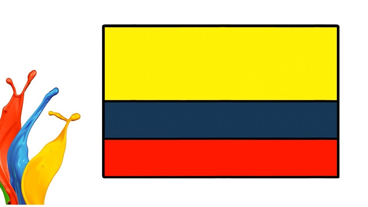 Colombian Flag Symbolism And Design How To Draw And Coloring Step By
