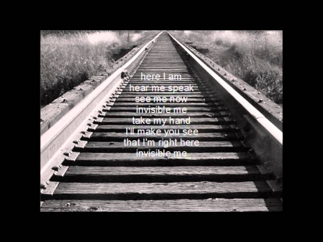 invisible me lyric video