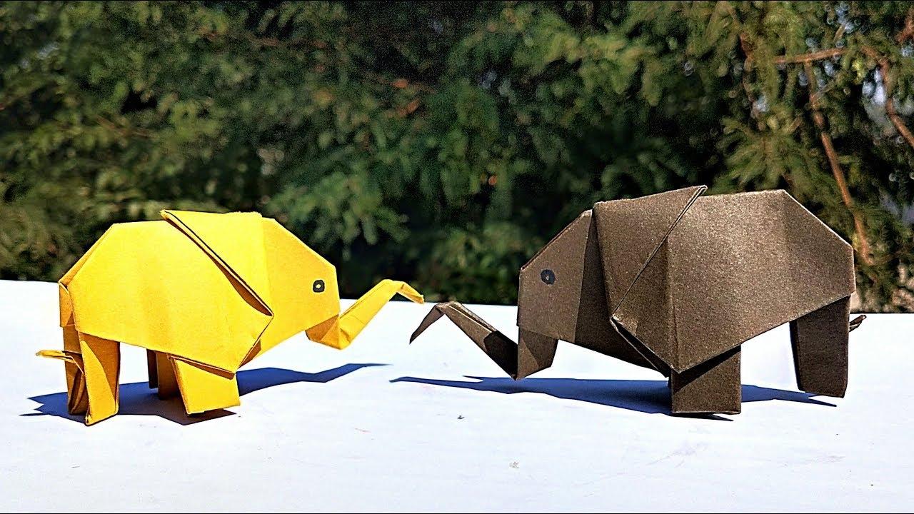 Easy Origami Elephant Tutorial [creator: Paul Jackson] - YouTube | 720x1280