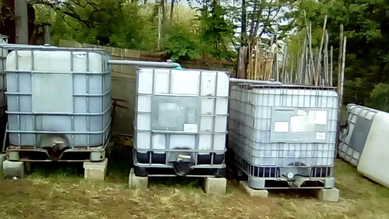 Ultimato il collegamento delle cisterne da 1000 litri for Contenitori da giardino