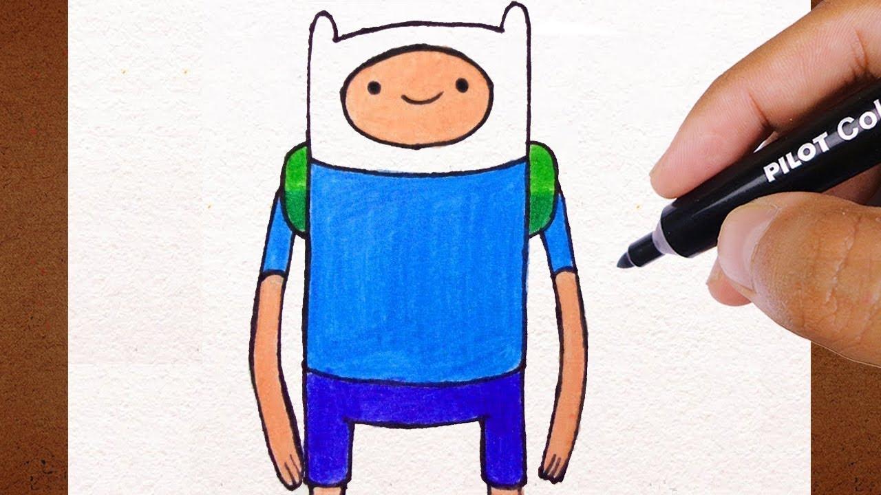 Colorindo E Desenhando Finn Hora De Aventura How To Draw