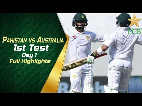 Pakistan Vs Australia In UAE 2018 1st Test Day 1 Full Highlights