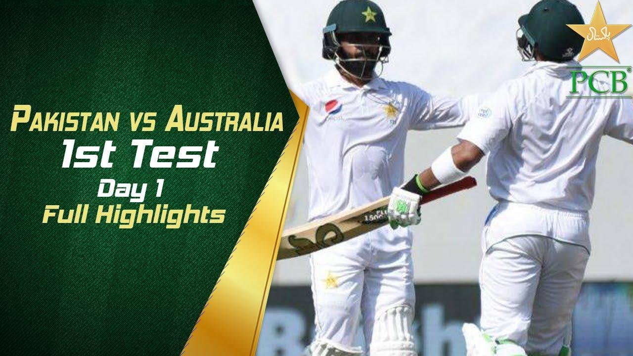 Pakistan vs australia 2nd test day 1 full highlights 2018