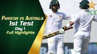 Pakistan vs Australia in UAE 2018 1st Test Day 1 Full Highlights