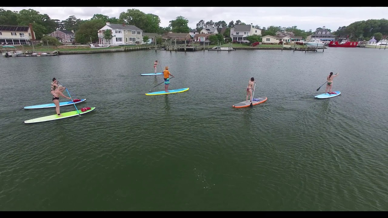 Rudee inlet paddle boarding