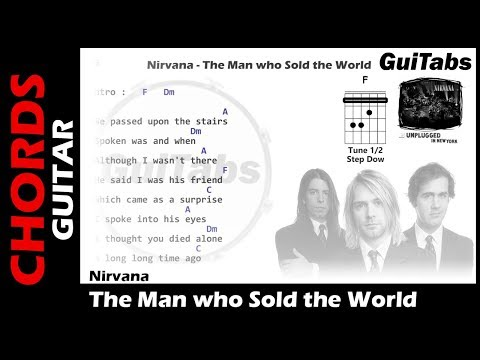 Nirvana - The Man who Sold the World ( Lyrics and GuiTar Chords ) 🎸