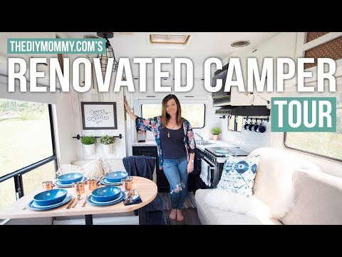RENOVATED RV TOUR   Our DIY Camper   The DIY Mommy
