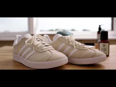 Adidas Gazelle reinigen mit Adidas Originals Cleaning Drops und Suede Liquid