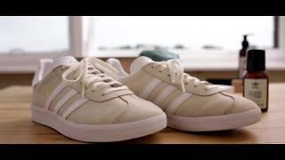 Teoría de la relatividad Deshabilitar Predecir  Adidas Gazelle reinigen mit Adidas Originals Cleaning Drops und Suede  Liquid - YouTube
