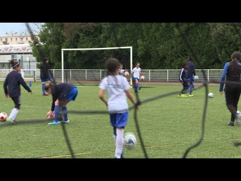 Free soccer school in Grenoble, France, puts girls on the field
