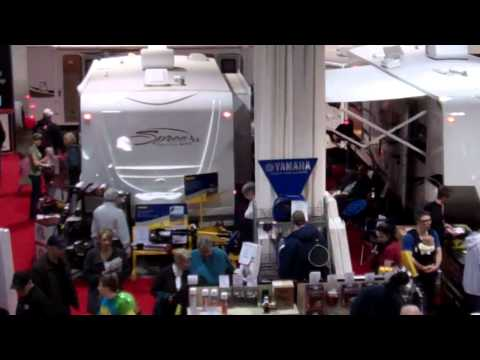 2012 Calgary RV Show - From The Top Of An RV From Bucars