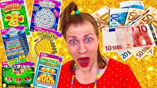 100 EUROS DE JEUX A GRATTER ! 100% DE CHANCE ! Youtubers life  - NADEGE CANDLE
